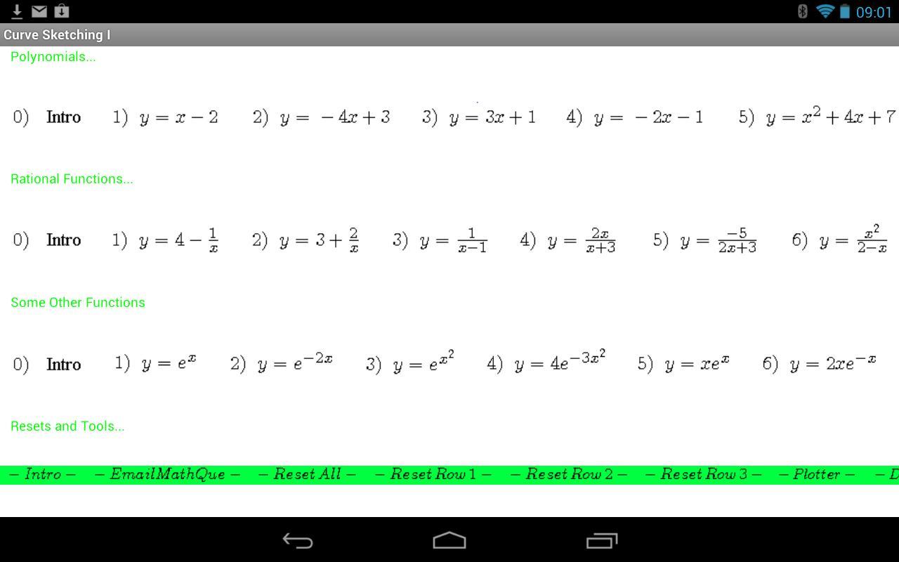 Curve Sketching Practice Screenshot on Trig Word Problems Worksheet