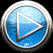 Poweramp skin lightblue lizard icon