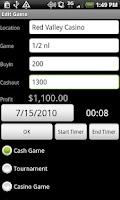 Screenshot of Poker Log