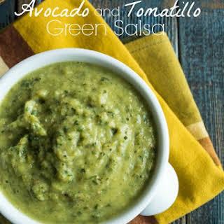 Avocado and Tomatillo Green Salsa.