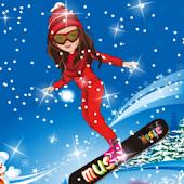 Shining Girl Skiing Dress Up