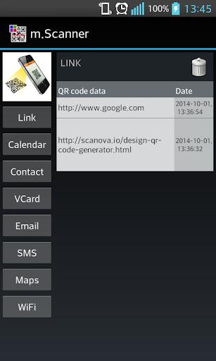 m. Scanner - QRcode Barcode