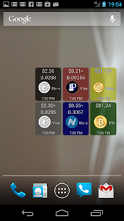 Digital Currency Widget – Vignette de la capture d'écran