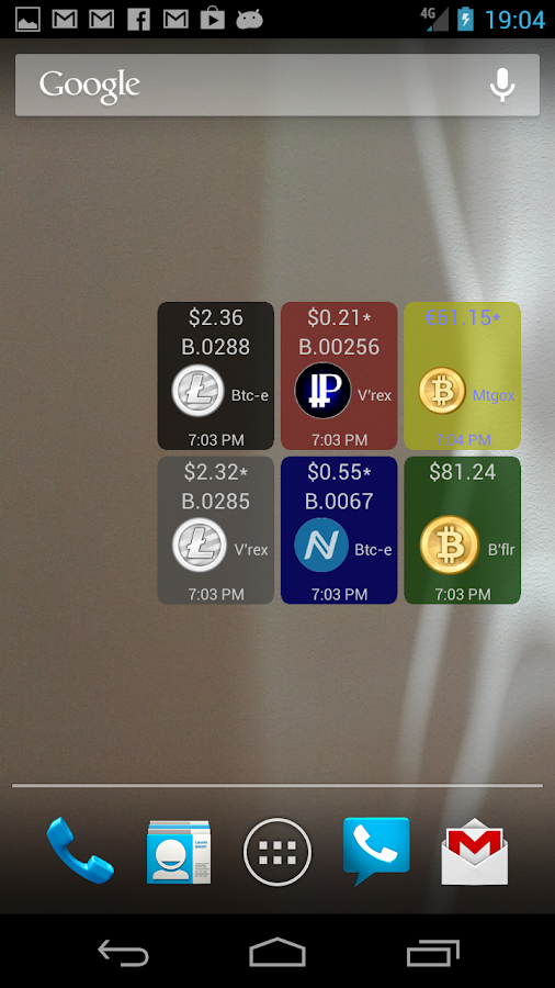Digital Currency Widget- screenshot