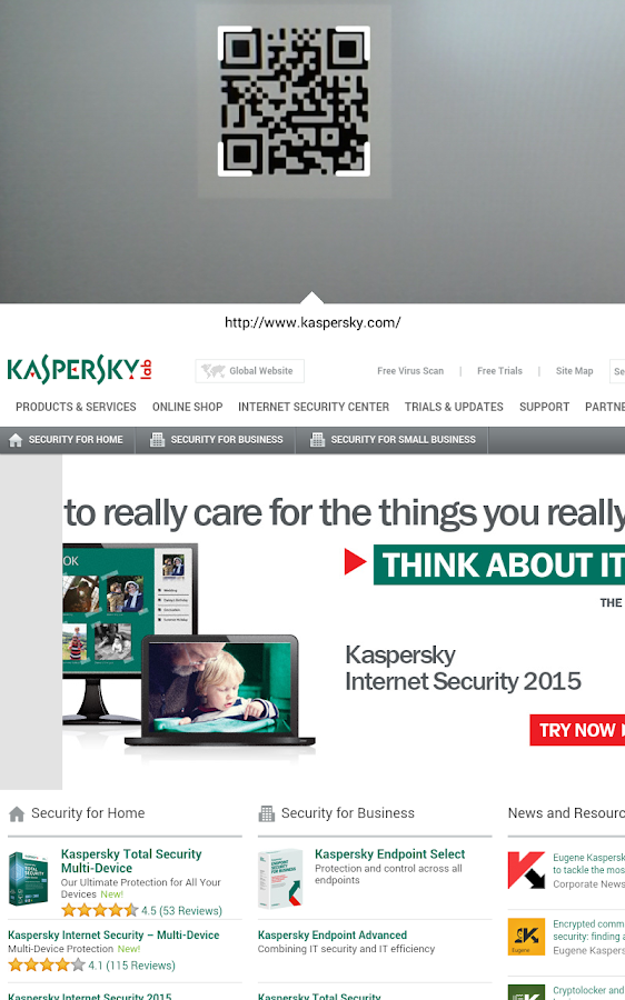 Kaspersky QR Scanner - screenshot