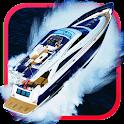 Speedboat puzzle icon