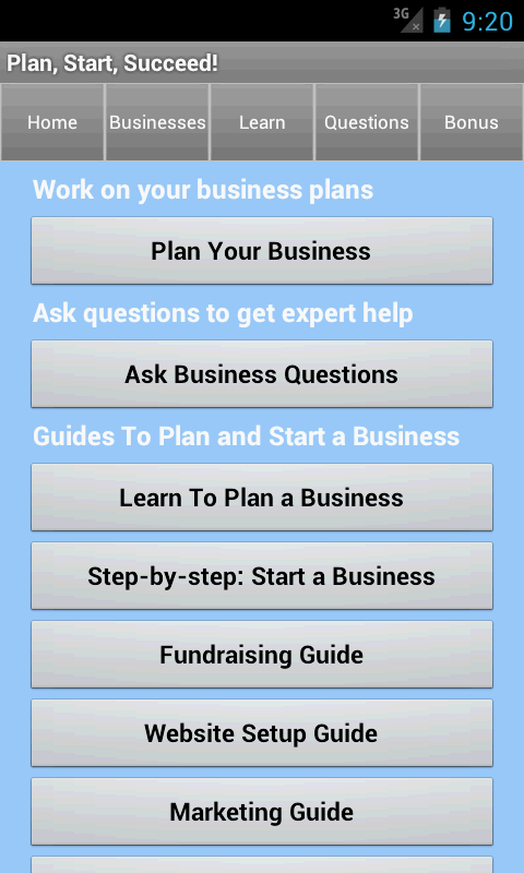 Small Business Coach & Plan- screenshot