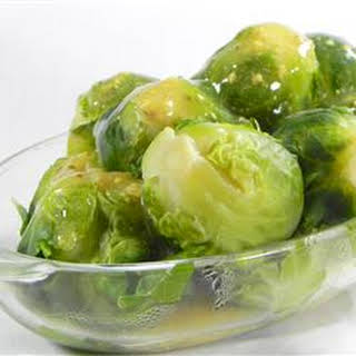 Brussels Sprouts in Mustard Sauce.