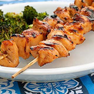 Pineapple Apricot Chicken Skewers.