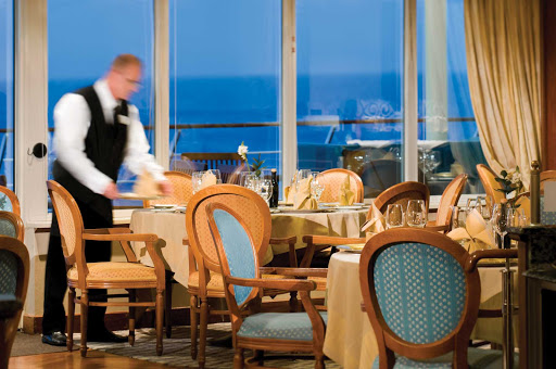 Silversea_fine_dining_2 - Enjoy fine dining in a picturesque setting aboard a Silversea sailing. You choose when, where and with whom to eat.