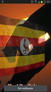 Uganda Flag Live Wallpaper - screenshot thumbnail