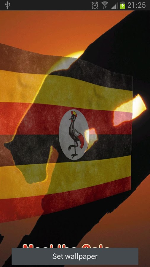 Uganda Flag Live Wallpaper - screenshot