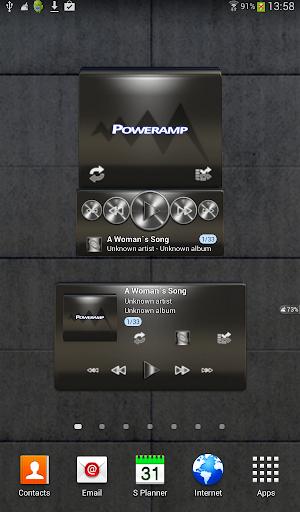 Poweramp widget - BLACK PLATIN
