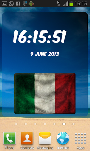 Italy Digital Clock