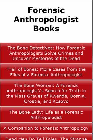 Forensic Anthropologist Books