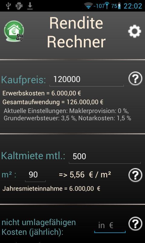 Yield Calculator- screenshot