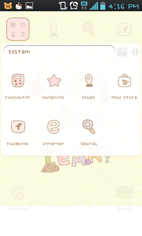 stupid's newyear go launcher - screenshot