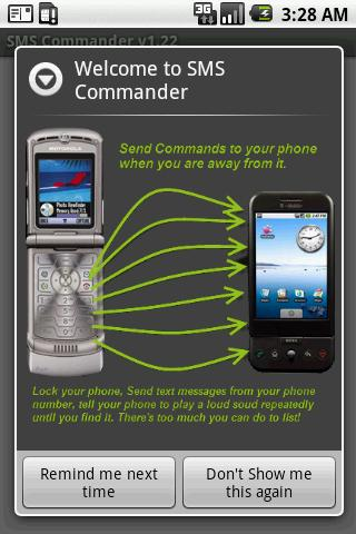SMS Commander- screenshot