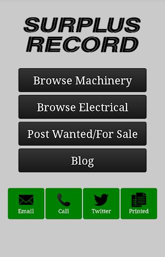 Surplus Record Used Machinery