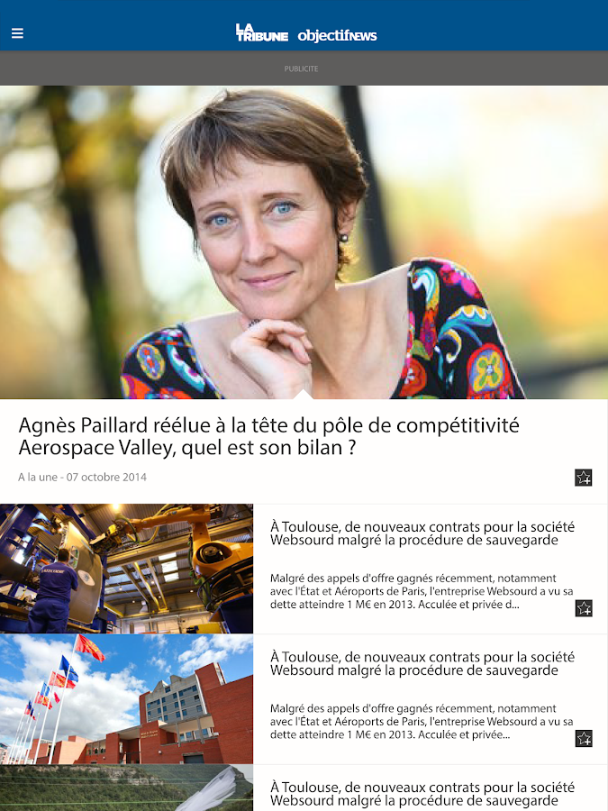 La Tribune-Objectif News- screenshot