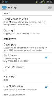 Send Message + SMS Server - AppRecs