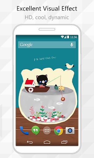 Cat Fishing Live Wallpaper