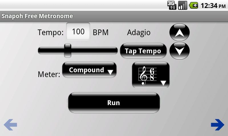 Snapoh Free Metronome - screenshot