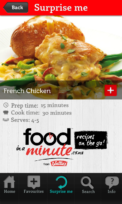 Food in a Minute® - screenshot