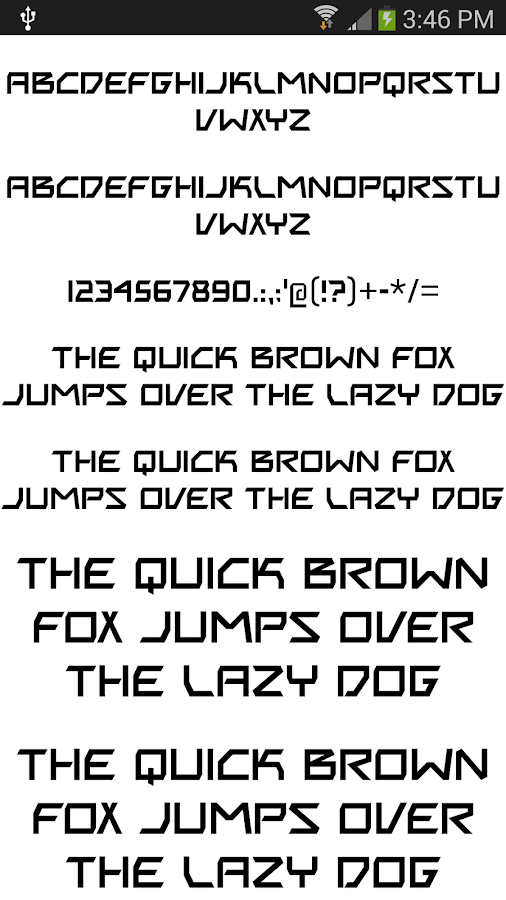 Fonts for FlipFont 50 #1 - screenshot