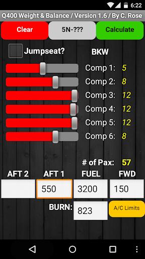 Q400 Weight & Balance 2.2 screenshots 1