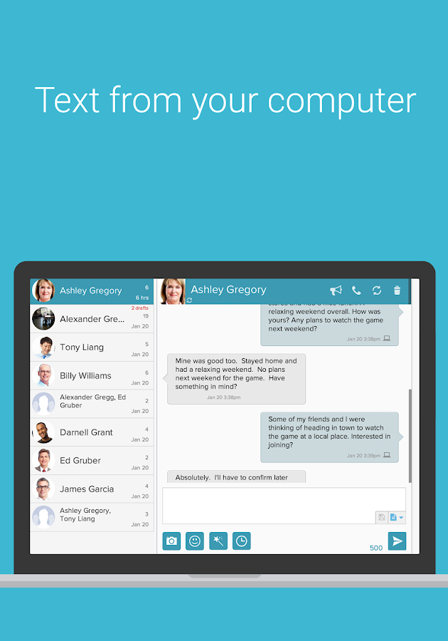 MightyText SMS Text Messaging - screenshot