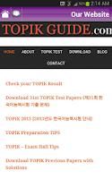 Screenshot of TOPIK GUIDE