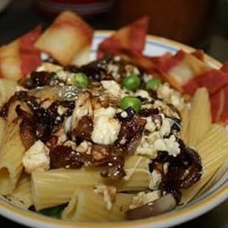 Pasta with Gorgonzola and Sweet Onion.