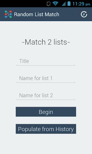 Random List Match