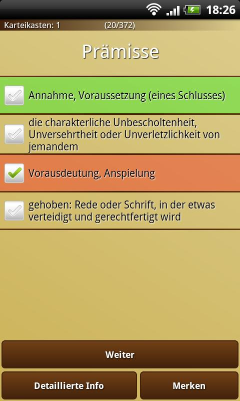 Word Trainer DE Ultimate - screenshot