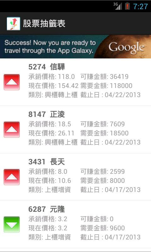 Taiwan Stock Lottery - screenshot