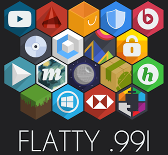 Flatty - A Flat Hex Icon Pack - screenshot thumbnail