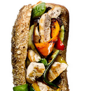 Grilled Chicken and Vegetable Hero.