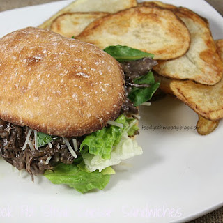 Crock Pot Steak Caesar Sandwiches.