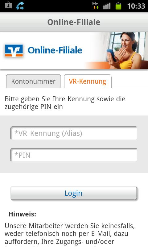 Online-Filiale - screenshot