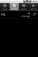 Screenshot of Call Log Shortcut