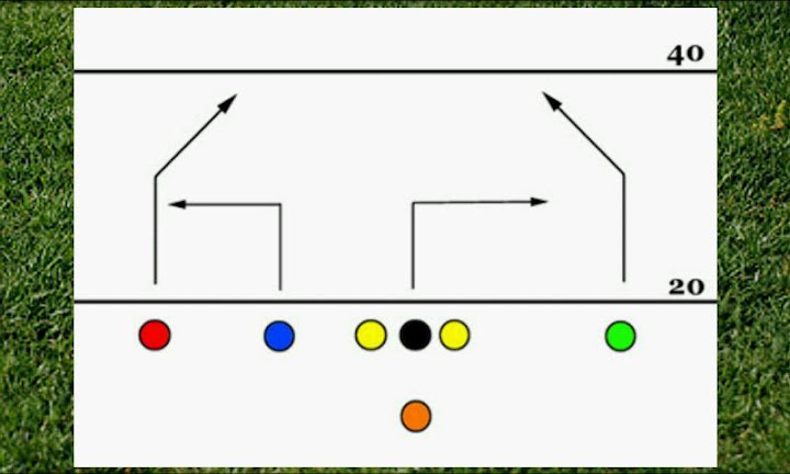 7 Man Flag Football Playbook Android App Screenshot