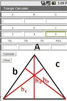 Screenshot of Triangle Solver Trial