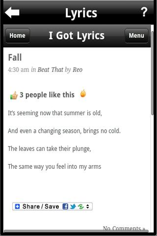 I Got Lyrics - screenshot