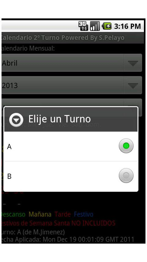 Calendario 2 Turnos Acerinox - screenshot