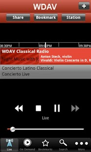 WDAV Classical Public Radio Ap- screenshot thumbnail