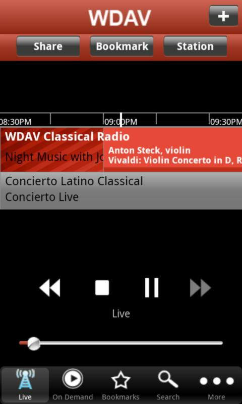 WDAV Classical Public Radio Ap - screenshot