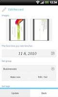 Screenshot of Biz cards viewer Carda