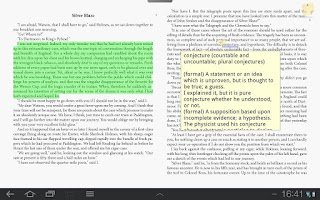 Screenshot of NeoSoar eBooks PDF&ePub reader