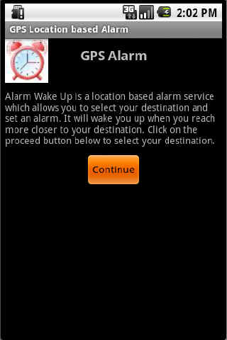 GPS Location Alarm - screenshot